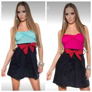 Vestito donna estivo abbigliamento ragazza mini abito sexy gonna minidress nuovo