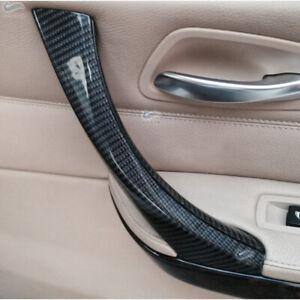 QUALITY Carbon Fiber Door Panel Handle Pull Cover Trim For BMW 3er E90 E91 325