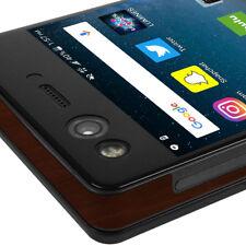 Skinomi TechSkin - Dark Wood Skin & Screen Protector for ZTE Axon M