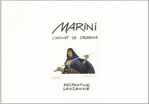 Marini, carnet de croquis dédicacé et signé, TL 113/199