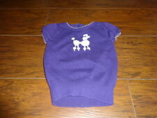 JANIE AND JACK 2T PURPLE POODLE CHIC DOG SWEATER TOP