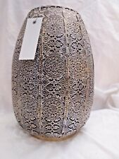 Jeff Banks Fine Metal Filigree Candle Holder 9 Inches Tall Ports Of Call 20213