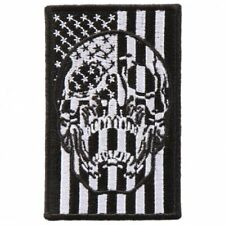 US American USA Flag Skull 3 INCH Iron on sew on PATCH