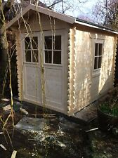 2 by 2.5 meter log cabin Felt roof shingles included,we can make any size.