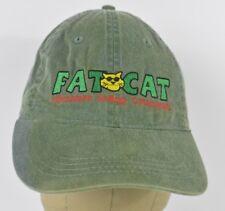 Green Fat Cat Adventure Sailing Embroidered Baseball Hat Cap Adjustable Strap