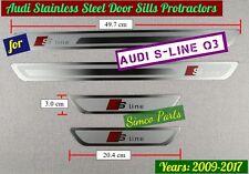 Audi S-Line Q3 Door Sill Scuff Plate Guards Protractors 2011-2017