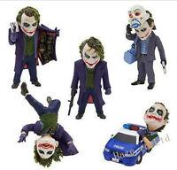 The Dark Knight Batman Joker Heath Ledger Mini Toy Figure Doll 5pcs/set