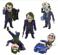 The Dark Knight Batman Joker Heath Ledger Mini Toy Figure Doll 5pcs/set