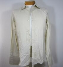 GUCCI LONG SLEEVE FRENCH CUFF SHIRT SIZE 15 1/2 39, IVORY