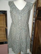 "Spanish designer summer shirt dress ""Tantra"" size L sleeveless summer floral geo"