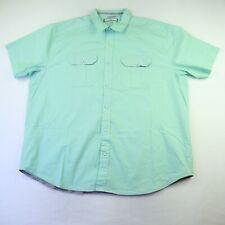 Paper Denim & Cloth Men's Size 3XL Mint Green Short Sleeve Button Up Shirt