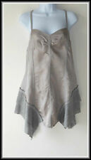 BNWT River Island Women's Strappy  Grey Tunic Top size UK 12  EUR 40