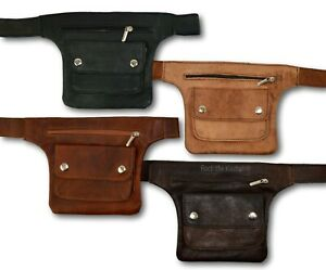 Organic Leather Hip Bag Bumbag Fanny Pack Money Belt Purse Moroccan *HANDMADE*