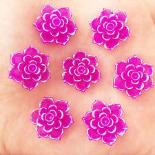 10 x 20mm AB Resin 3D Flower Stone Flatback Wedding DIY Design Button Craft K331