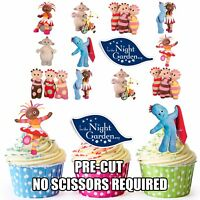 PRE-CUT In The Night Garden Edible Cupcake Toppers Party Decorations Pack of 36