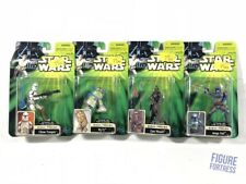 Set of 4 Star Wars Power of the Jedi Attack of the Clones Sneak Preview figures