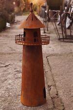 Edelrost Leuchtturm 60cm Aussichtsplattform Windlicht Gartendekoration Skulptur
