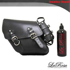 La Rosa HD Street Bob Fat Bob Saddlebag & Gas Bottle - 1996 UP Black Leather
