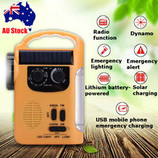 Solar Power Hand Crank Dynamo USB AM/FM Radio LED Flashlight Lantern Power Bank