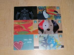 Starbucks Russia   6 different new and used collectible gift cards