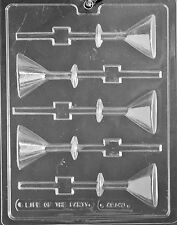 Martini Glass Sucker Chocolate Candy Mold - 3 Count