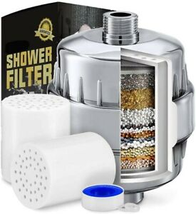 17 Stage Shower Filter Hard Water Softener High Output Universal Replacement New
