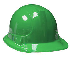 6 Pack Kid's Plastic Construction Hard Hat Party Favor Costume Accessories GREEN