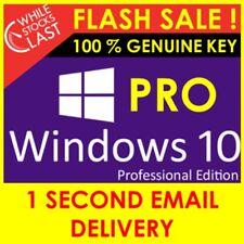 WINDOWS 10 PRO KEY PROFESSIONAL 32 /64 BIT Genuine ACTIVATION LICEN