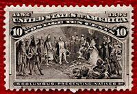 1893 US SC#237 Columbus Presenting Natives Mint H/OG