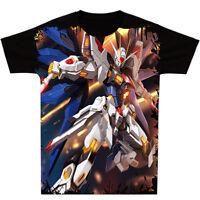 Unisex Short Sleeve Anime Mobile Suit Gundam Seed Clothing T-Shirt Tops Tee#Y12