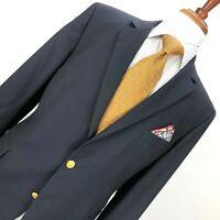 Brooks Brothers 1818 Madison Loro Piana Mens 45R  Fully Canvased Navy Blazer