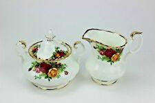 Royal Albert Old Country Roses Covered Sugar and Creamer Set