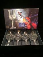 Longchamp Cristal d'Arques France 7 1/2 Inch Wine Glasses NIB