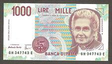 RARA 1.000 lire Montessori serie GH 347743 E RADAR PALINDROMO FDS ASS UNC 1000
