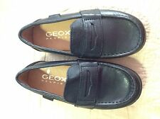 Geox Respira  Boys Slip~ On Loafer Black 26 EU Toddler Size 9