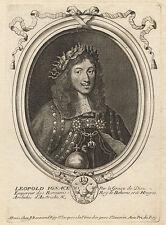 Retrato: Leopold I. (1640-1705) – grabado/larmessin, C. 1685