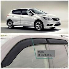 NE15215 Window Visors Guard Vent Wide Deflectors For Nissan Tiida Hb 2015-2018