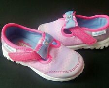 Girls Size 6 Sneakers Skechers 81129 No Lace Mary Janes Memory Foam Hook Loop