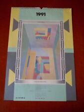ALCHIMIA Kalender 1991 - Mendini - Sottsass - De Lucchi - 34 x 49 cm