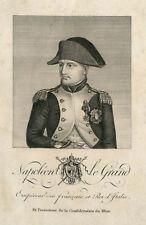 CARTE POSTALE PORTRAIT  NAPOLÉON LE GRAND EMPEREUR DES FRANÇAIS ET ROI D'ITALIE