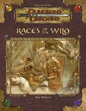 Dungeon & Dragons Rules Supplements Races of the Wild Hardcover Book NEW