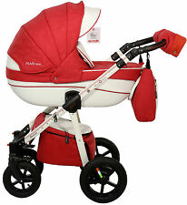 Eco New Baby Pram Buggy 3in1 Stroller Pushchairs Car Seat Carrycot Travel System
