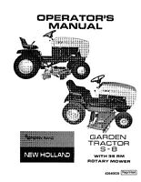NEW HOLLAND S8 Garden Tractor with 36 RM Rotary Mower OPERATORS MANUAL