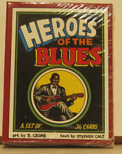 """R. Crumb """"Heroes of The Blues"""" Set of 36 Cards - Brand New Set SEALED"""