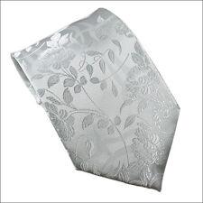 100% Silk White Pattern Necktie Style# WPT-1004  ***US Seller***