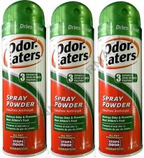 Odor-Eaters SPRAY POWDER 4 oz for Foot & Sneakers ( 3 pack ) PRIORITY SHIP