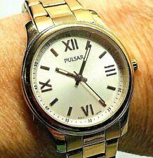 Mens Gold Toned Pulsar Watch - New Battery - Runs Great