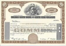 CHICAGO SOUTH SHORE AND SOUTH BEND RAILROAD....UNISSUED COMMON STOCK CERTIFICATE