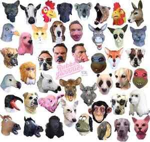 Latex par la Tête Animal Masque Cosplay Mascarade Déguisement Carnaval