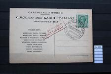 CATOLINA RICORDO CIRCUITO DEI LAGHI 1913 CON ANNULLI SPECIALI (ROS493